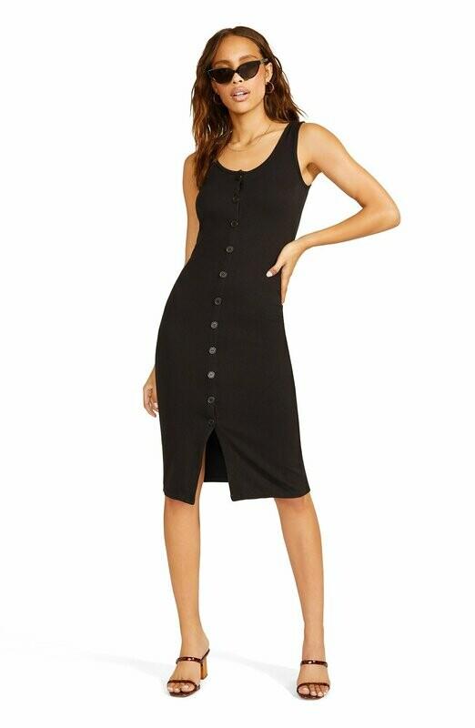 Black Button Down Tank Dress