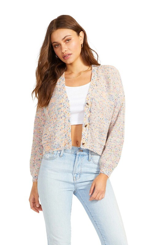 Golden Hour Cropped Knit Cardigan