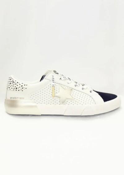 Mag White & Black Multi Sneaker