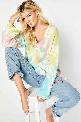 Multi Tie-Dye Swirl Sweater