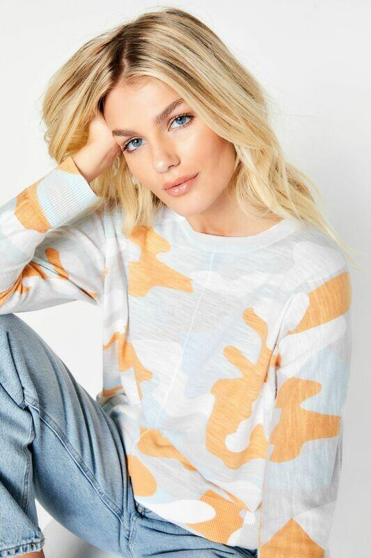 Camo Pop Breeze Sweater