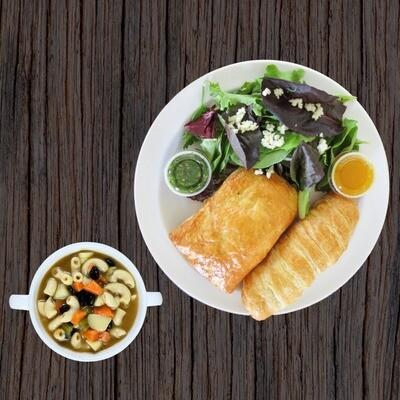 Combo 3 (1 reg empanda + salad + soup + guava finger)