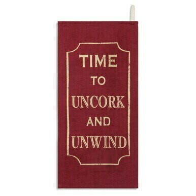 Uncork and Unwind Bar Towel