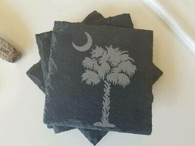 South Carolina slate coaster set