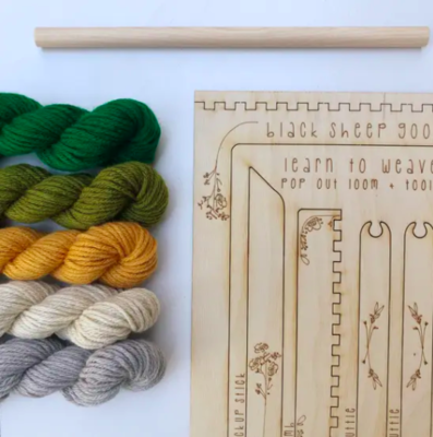 Black Sheep Goods Tapestry Weaving Kit