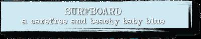 Chalk Paint - Surfboard - 4 oz.