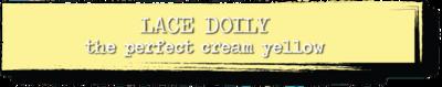 Chalk Paint - Lace Doily - 1 Quart