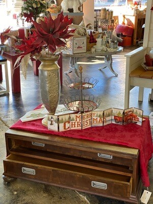 Vintage Coffee Table w/ Bi-Directional Drawers