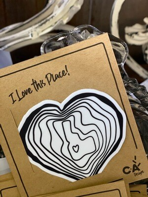 I Love This Place Sticker by C+A Designs