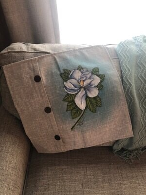 Magnolia Fabric Painting Class - Sat, July 24th - 11am