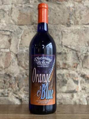 Pheasant Hollow Orange and Blue-Bottle