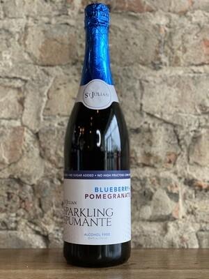 St Julian Blueberry + Pomegranate Sparkling Juice-Bottle