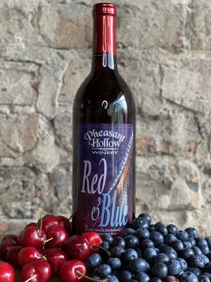 Pheasant Hollow Red and Blue-Bottle