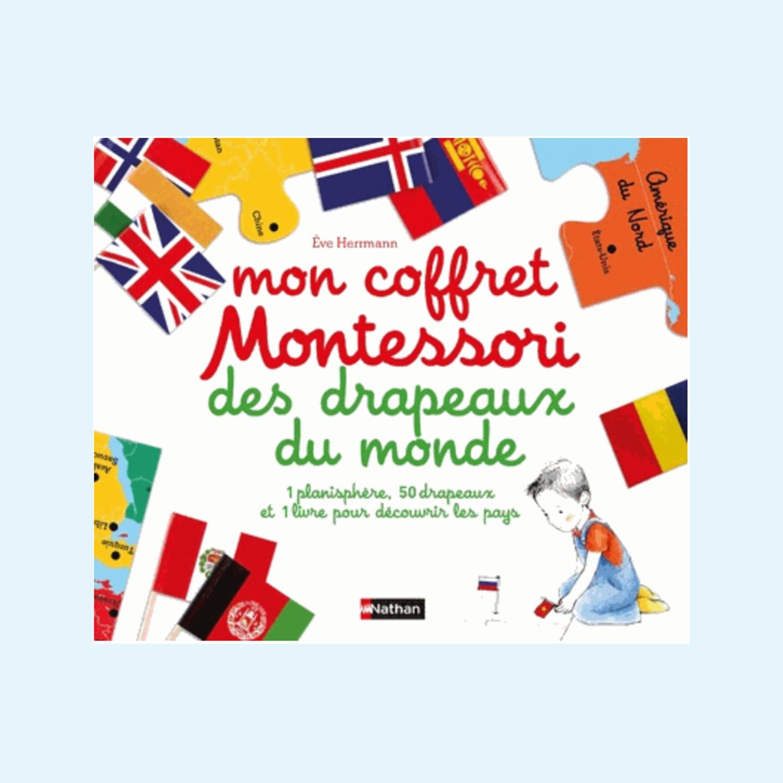 Mon coffret Montessori des drapeaux du monde