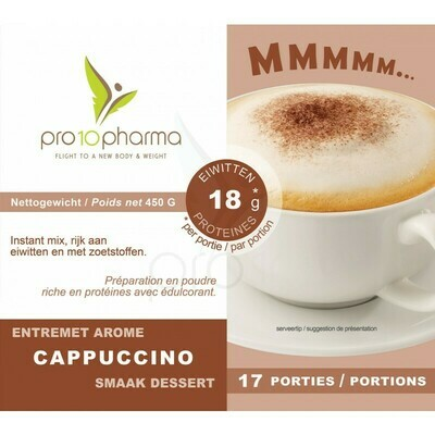 PRO10 PHARMA - CAPPUCCINO DRANK (450 G)