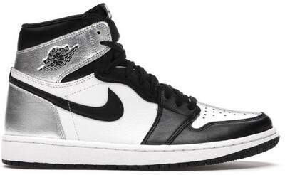 Nike Air Jordan 1 Retro High Silver Toe (W)