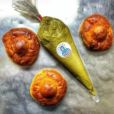 Kit 10 Brioche col Tuppo + Crema Di pistacchio