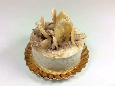 Individual Coconut and banana cheesecake