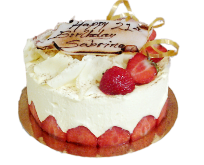 White chocolate fraisier 6 to 8  portions