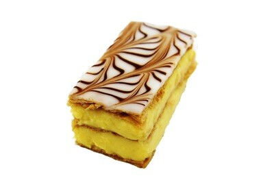 Mille Feuille Made Using Traditional Vanilla Crème Pâtissière, Topped With Fondant.