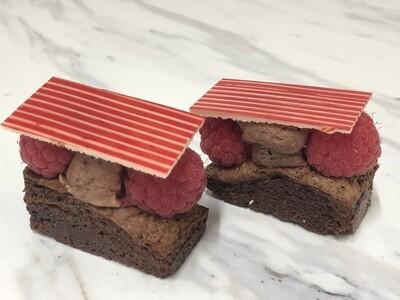 Mini Chocolate And Raspberry Fudge