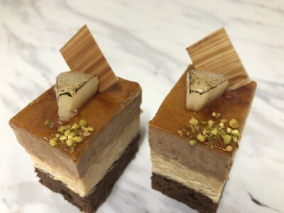 Pear And Caramel Brownie Mousse