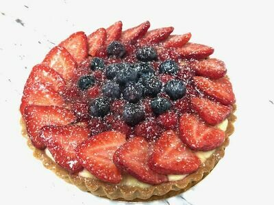 Mixed berry tart 10-12 portions
