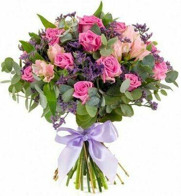 Siempre Tu | Arreglo de rosas y siempre viva