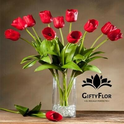 Alicia | Tulipanes en Florero | Giftyflor - Florerias en Lima