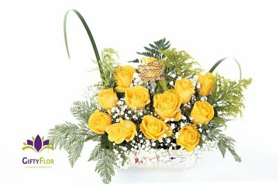 Vaneza | Arreglo con 12 Rosas Amarillas
