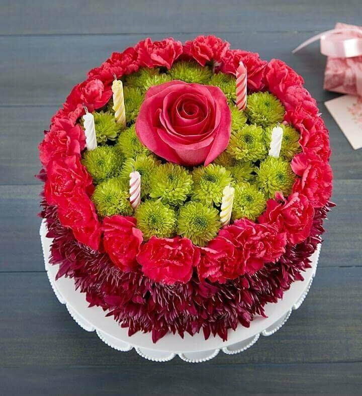 Red Cake Torta de Flores en tonos Rojos