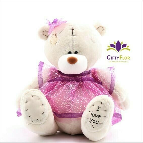 Peluche Luhana Osita princesa en caja de regalo