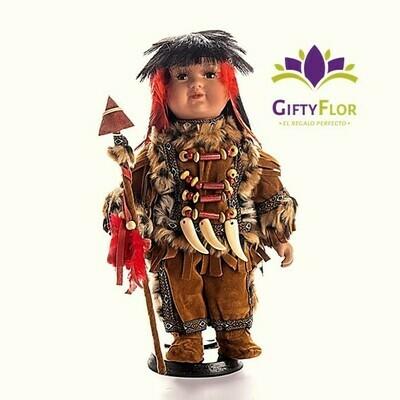 Peluche: Figura de Indio en caja de regalo | Giftyflor