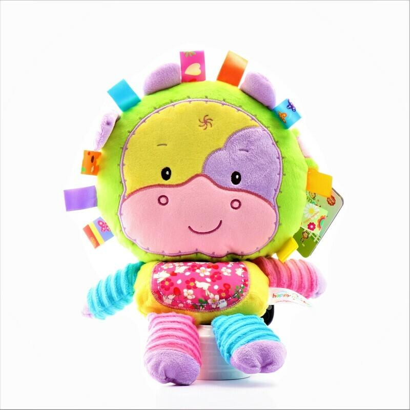 Peluche - león didáctico para bebé | Giftyflor