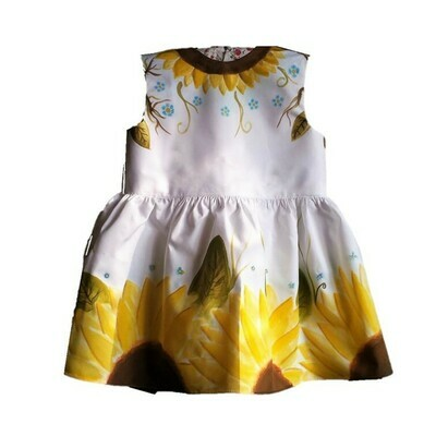 Vestido Pintado a Mano | Handpainted Dress for girls