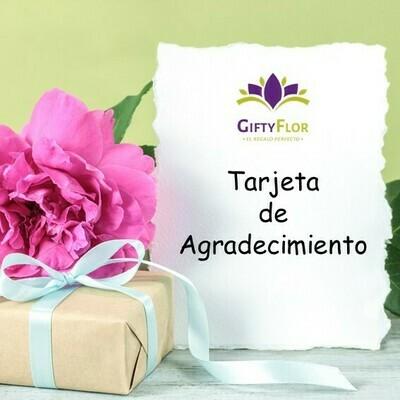Tarjeta de Agradecimiento | Giftyflor