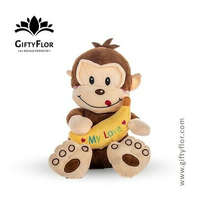 Peluche Monky  | Monito con Banana | Giftyflor