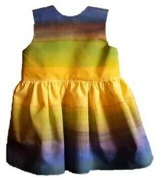 Vestido de algodón para niña pintado a mano