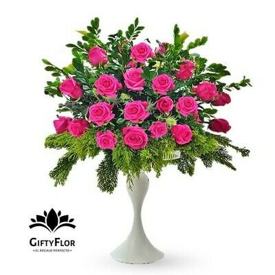 Dulce tentación | Arreglo de Rosas Fucsias
