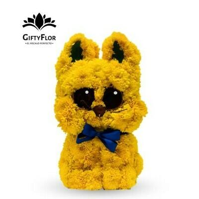 Escultura de Gato hecha con Flores | Giftyflor