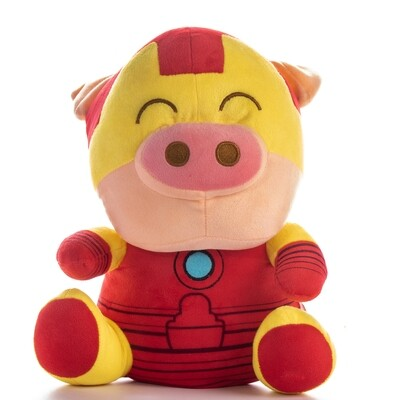 Peluche Cerdito Iron Man en caja de regalo | Giftyflor