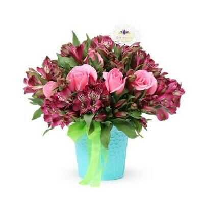 Solt | Arreglo de Rosas y astromelias lilas