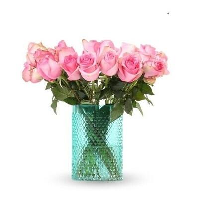 Glem | Arreglo de Rosas rosadas en florero | Giftyflor