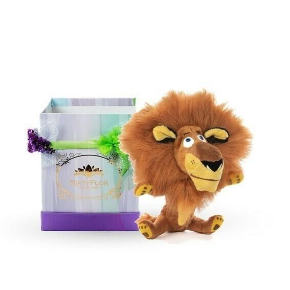 Peluche  Alex el León en Caja de Regalo