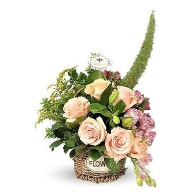 Meu Amor| canasta de rosas vintage | Giftyflor