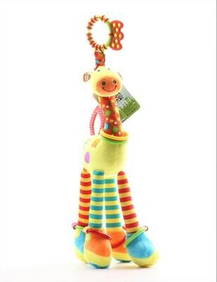 Peluche - jirafa sonajero didáctico para bebé