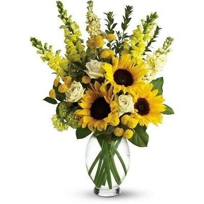 Rafaella | Arreglo con Girasoles y flores de estación