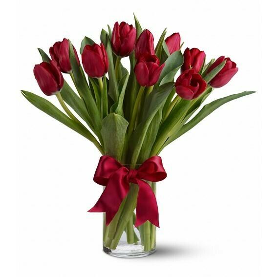 Tula Tulipanes en Florero en tu color favorito