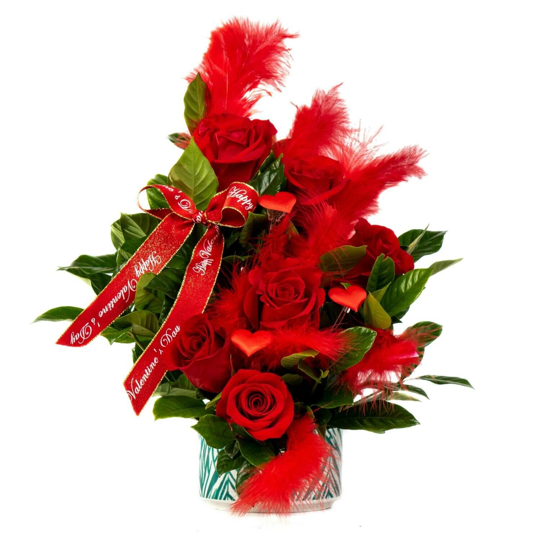 Eros | Arreglo de 8 rosas Rojas