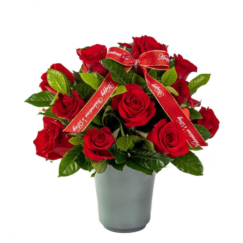 Paris Arreglo con rosas en base de cerámica kero